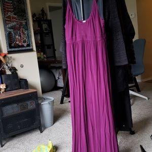 Old Navy purple Maxi dress L